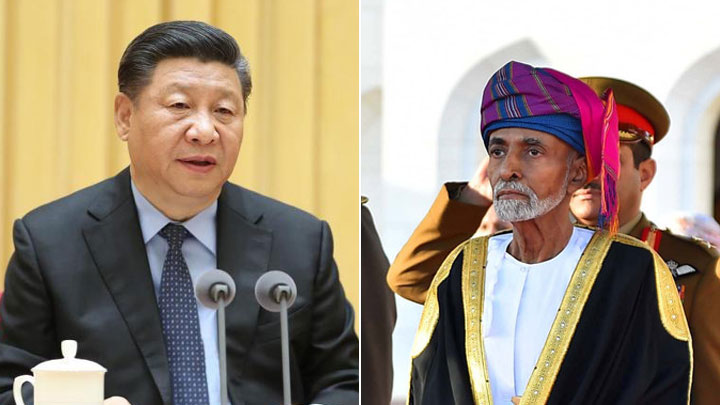 A photo combination of Chinese President Xi Jinping (left) and Oman's Sultan Qaboos Bin Said [Photo: China Plus]