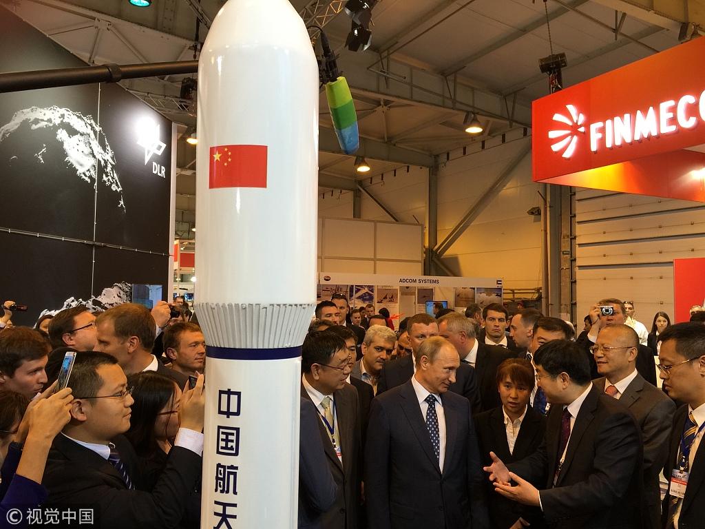 China, Russia to strengthen aerospace cooperation: Putin