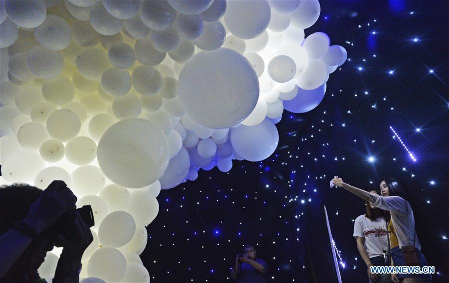 Balloon art exhibition makes headlines in Tianjin
