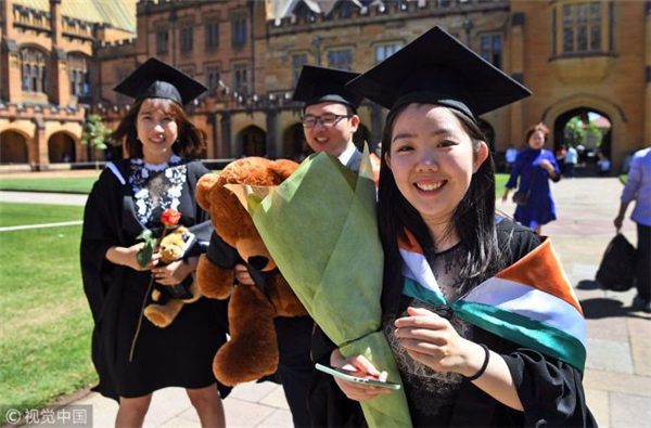 More Chinese students apply for master's degree overseas