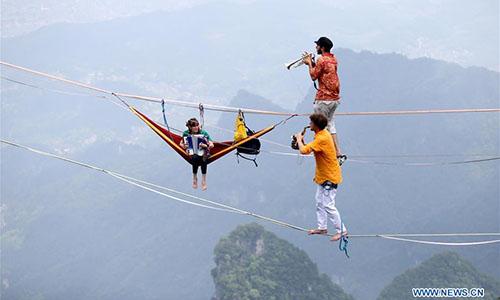 A sky-high concert in Hunan – literally