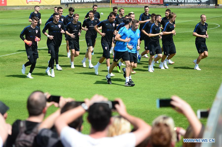 Croatia holds training session for 2018 FIFA World Cup