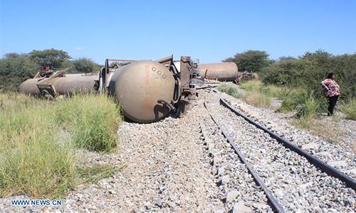TransNamib train derails outside Otjiwarongo in central north Namibia