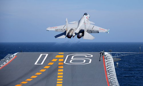 Chinese aircraft carrier forming all-weather combat capability with successful night takeoff and landing
