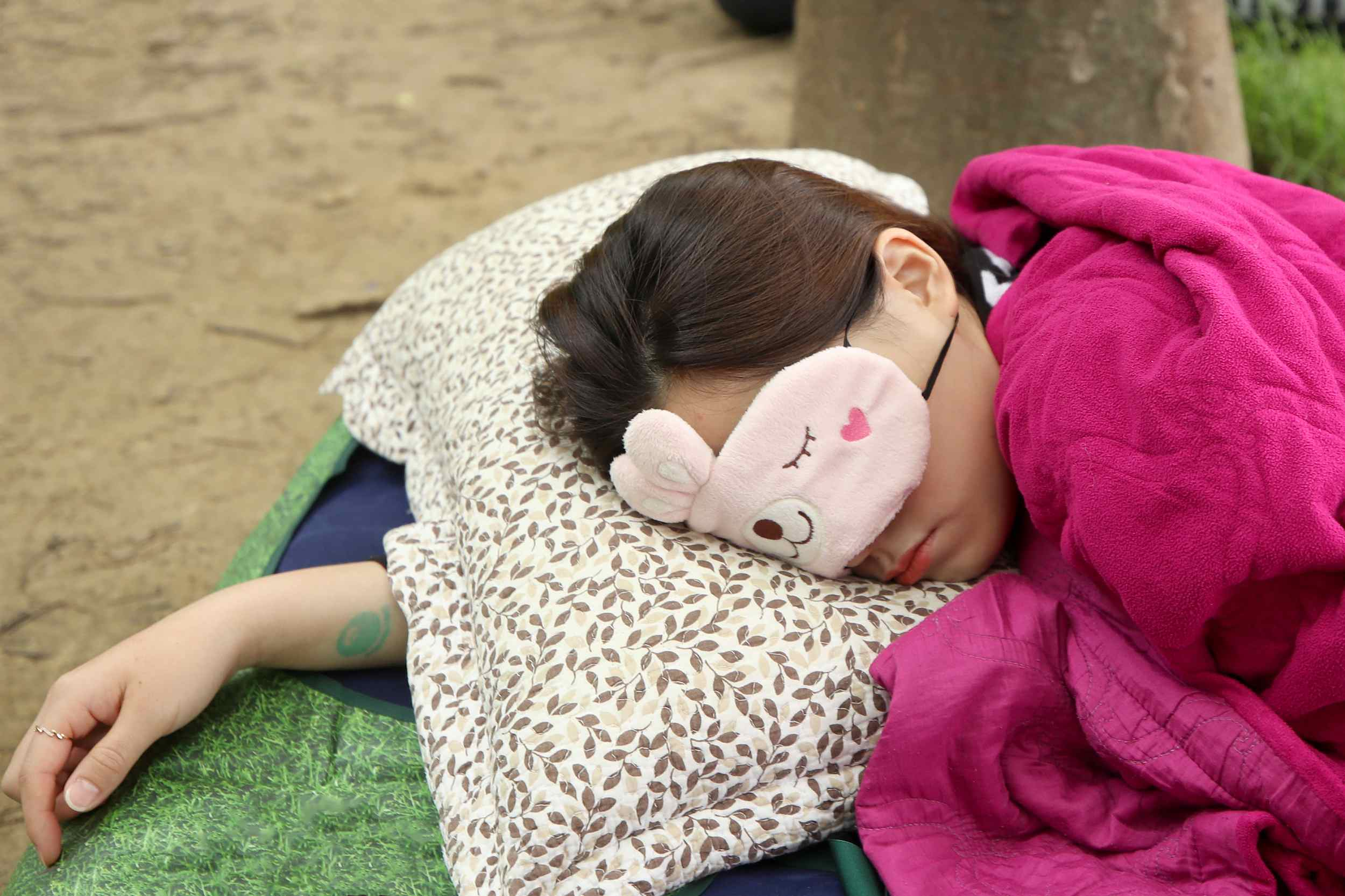 Snoozing contest held in Seoul Forest Park