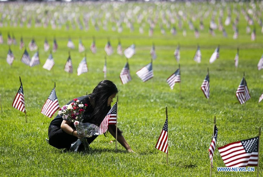 Memorial Day observed at Los Angeles National Cemetery, U.S.