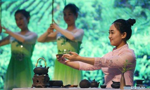 Tea art contest held in Wuyuan, east China's Jiangxi