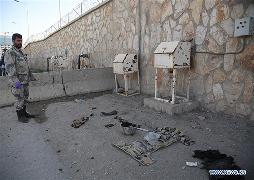 Aftermath of attack on gov't compound in Kabul