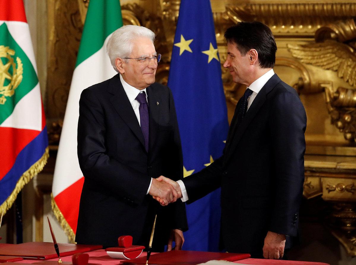 Italian Conte's new government sworn in
