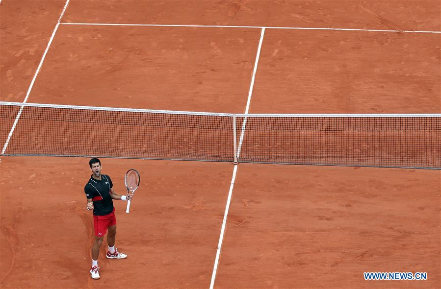 Djokovic wins men's singles 3rd round at French Open