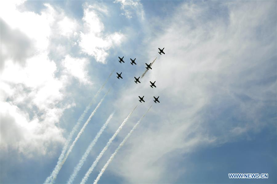 Air show seen ahead of Sisi's swearing-in ceremony in Cairo, Egypt