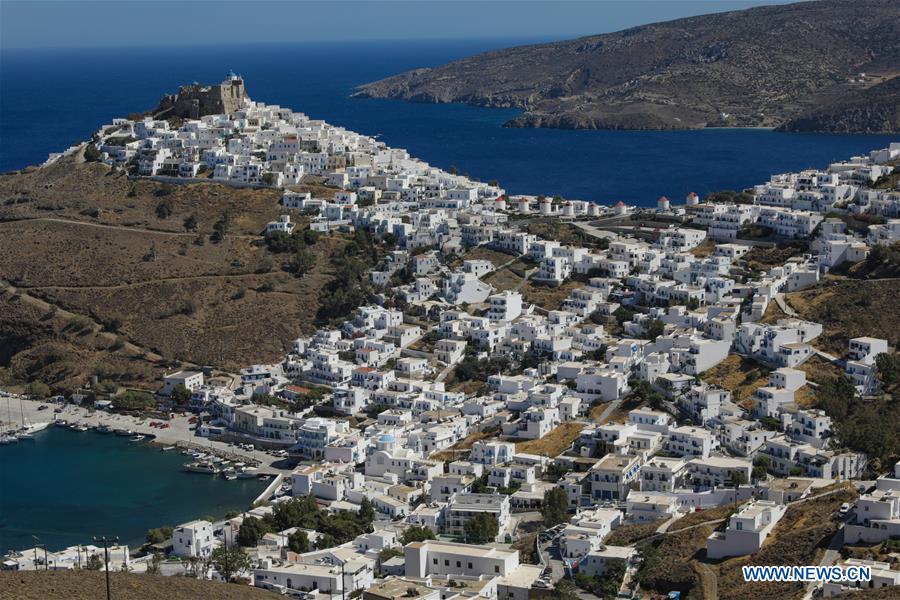 Scenery of Astypalaia island, Greece