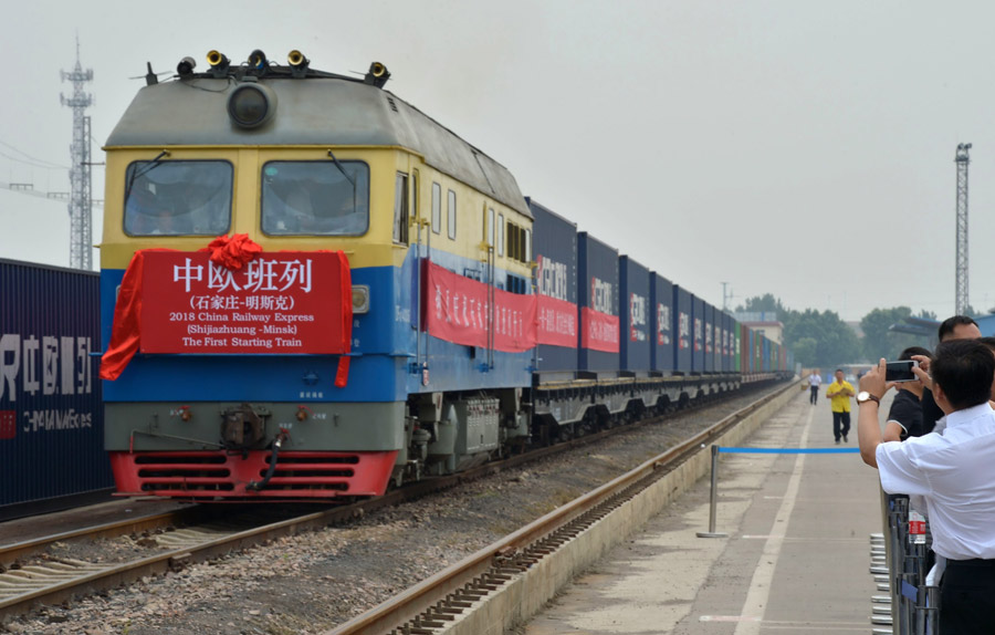 First freight train leaves for Belarus