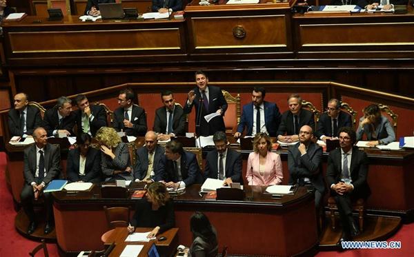 Italian new gov't wins Senate confidence vote