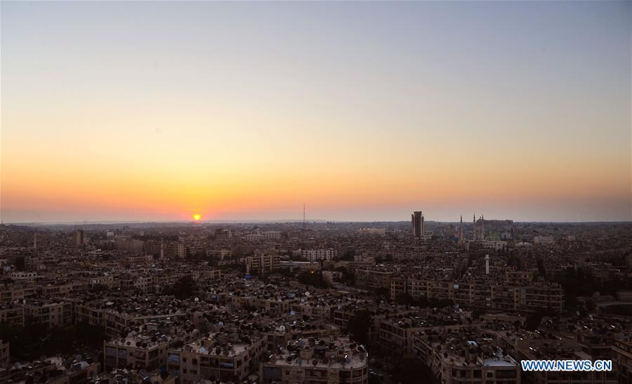 In pics: sunrise view over Aleppo city, N Syria