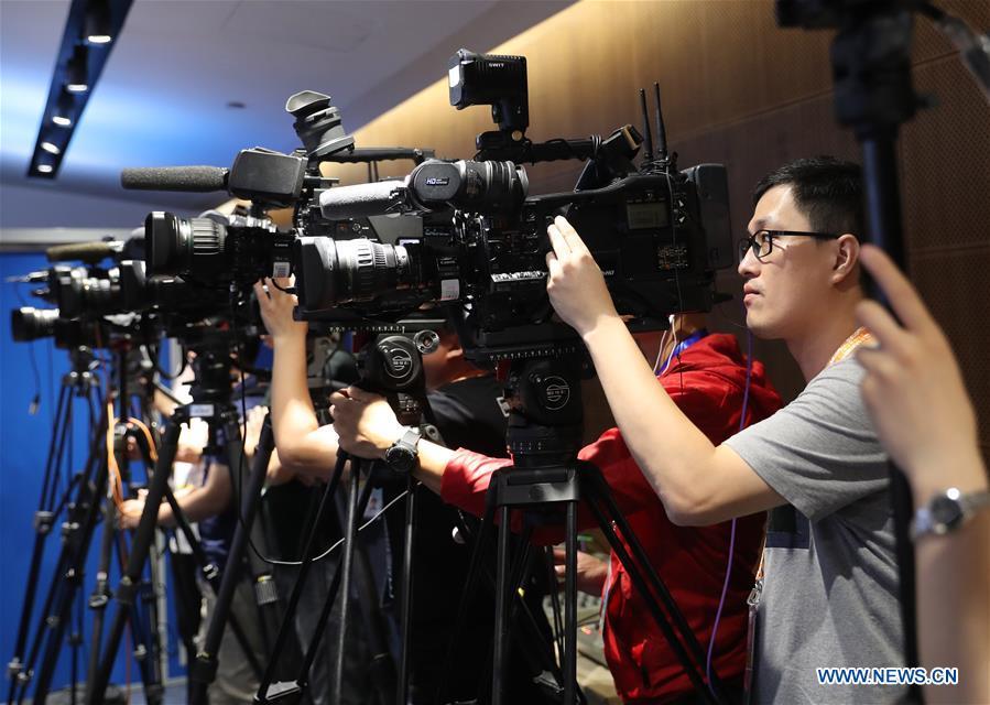 Journalists at SCO Qingdao summit