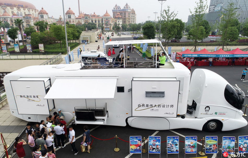Luxury RV unveiled in Jiangsu