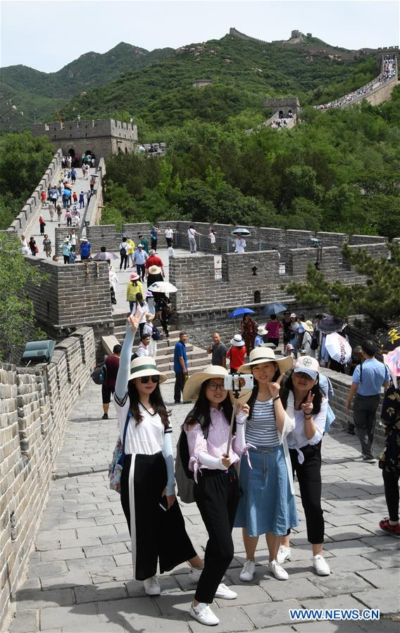 The Badaling Great Wall receives over 20,000 visitors per day recently
