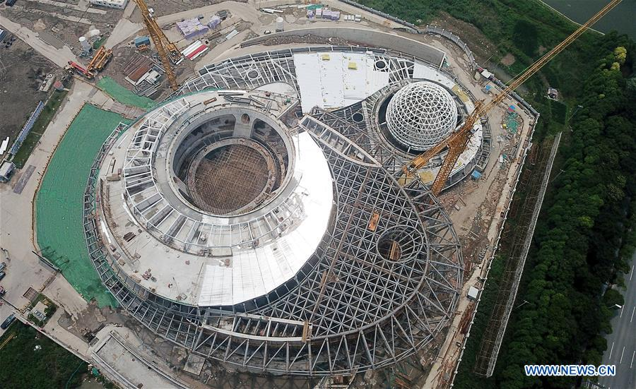 Main steel structure projects of Shanghai Planetarium completed