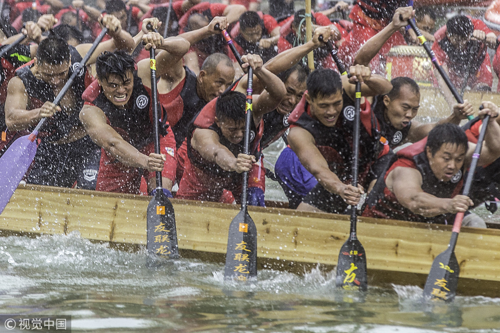 Guangzhou dragon boat race celebrates Chinese festival