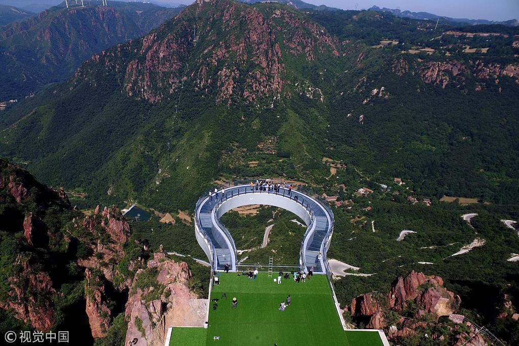 World's longest glass circular bridge set to open