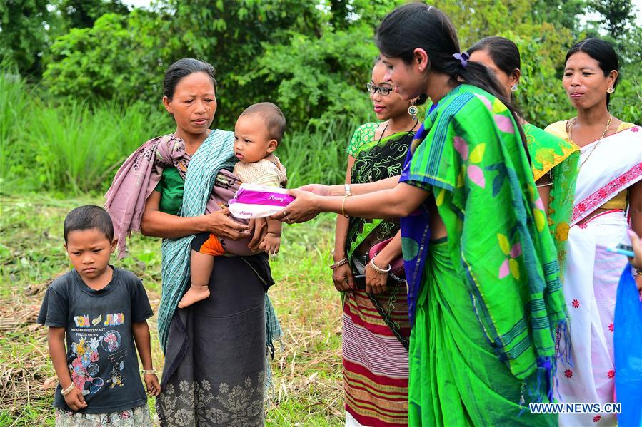 Health workers give free sanitary pads to tribal women, girls in India