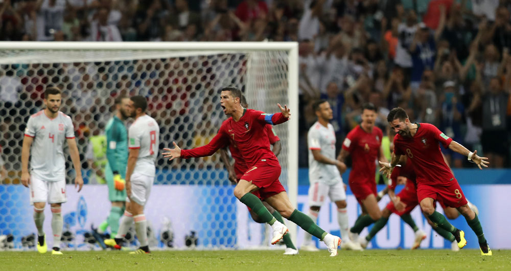 Cristiano Ronaldo's hat trick highlights World Cup action