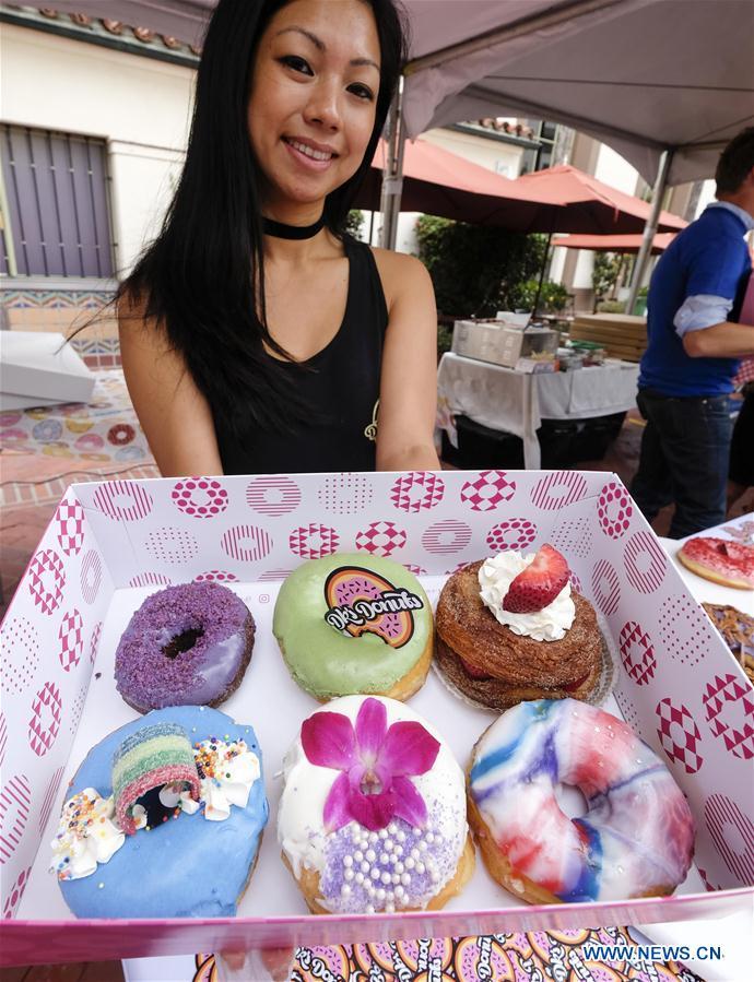 U.S.-LOS ANGELES-DONUT FESTIVAL