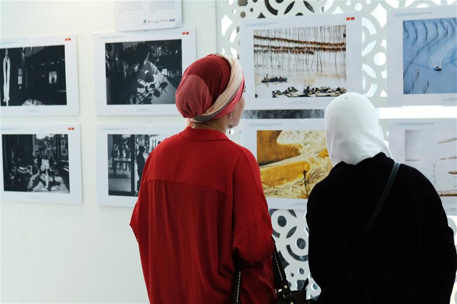 Photos taken by Chinese photographers exhibited in Rabat, Morocco