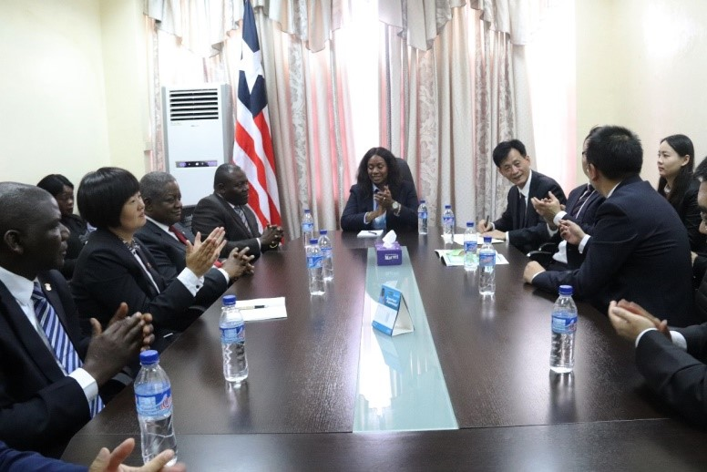 Liberia's First Lady, Chinese Delegation Discuss Partnership