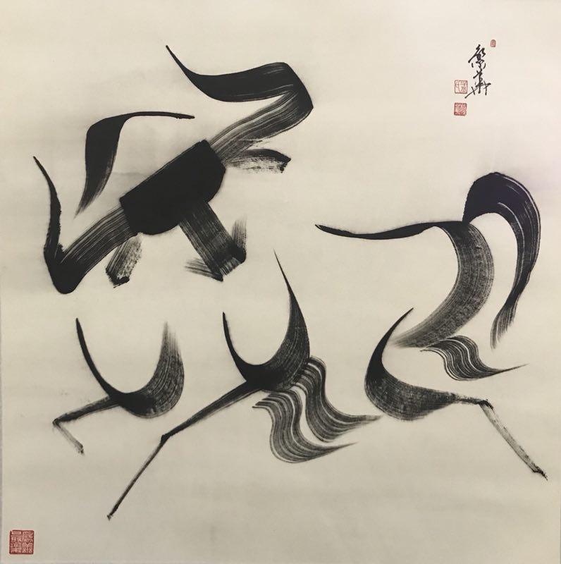 Yak ink paintings go on display in Tibet