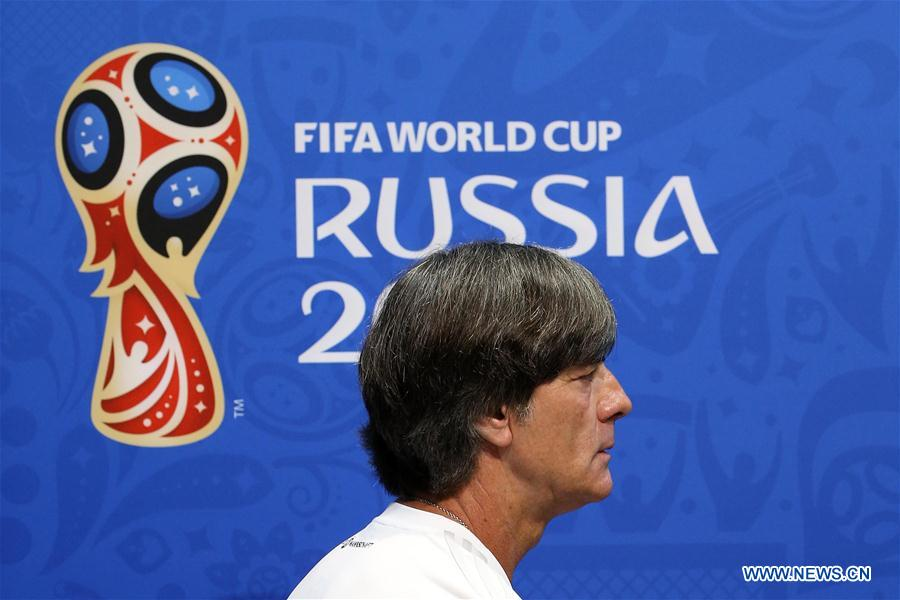 Germany's head coach, player attend press conference during World Cup