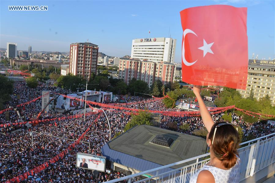 Presidential candidate of Turkey's main opposition party holds election rally in Ankara