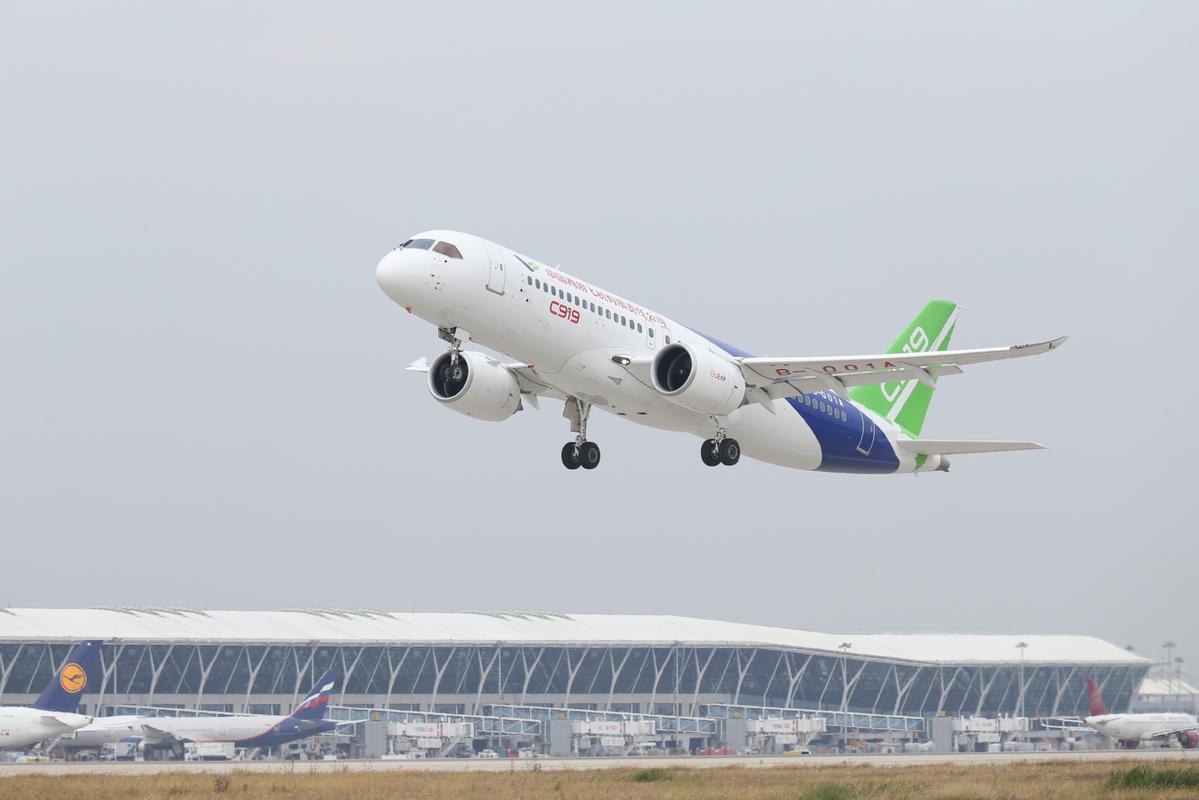 C919 makes more test flights