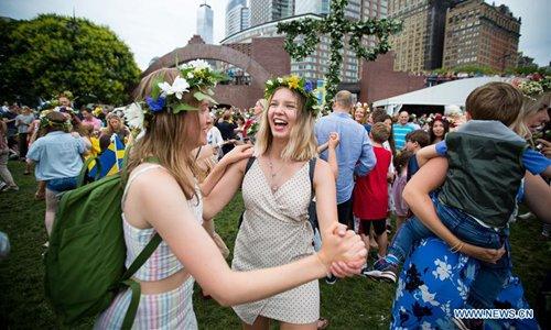 Annual Swedish Midsummer Festival celebrated in Manhattan, New York