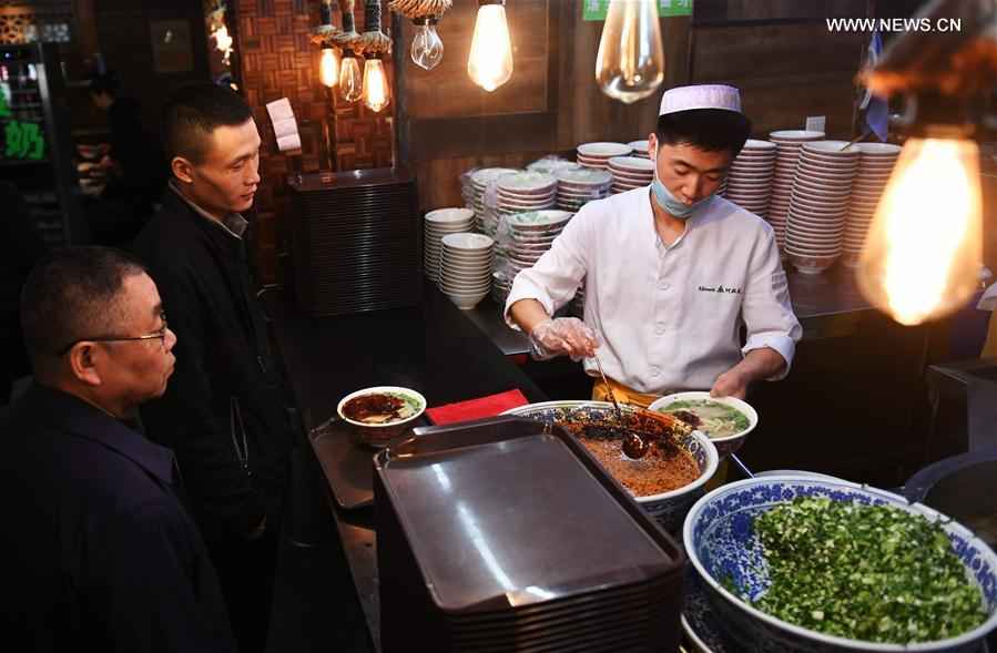 Raw soup to water proportion stipulated for Lanzhou beef noodle soup