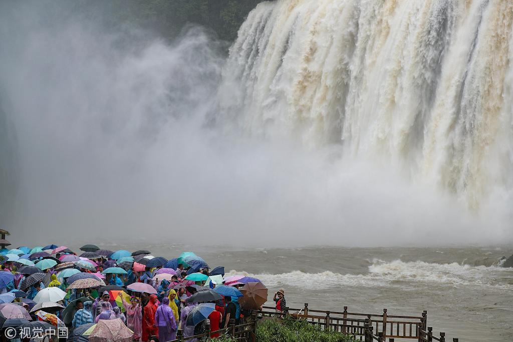 Huangguoshu Waterfall enters wet season in Guizhou