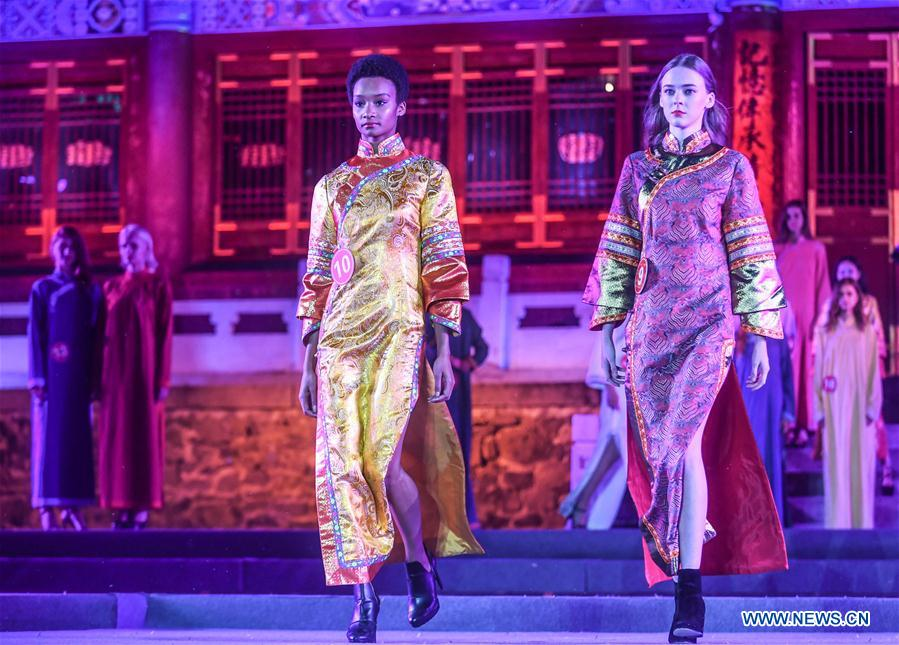 1st int'l qipao model competition held in NE China