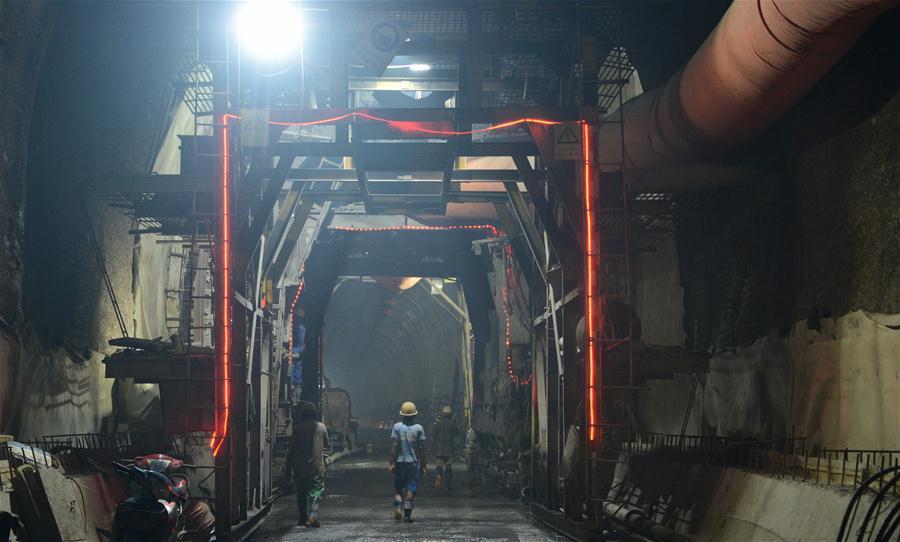 Inside Ban Nakok Tunnel of China-Laos railway
