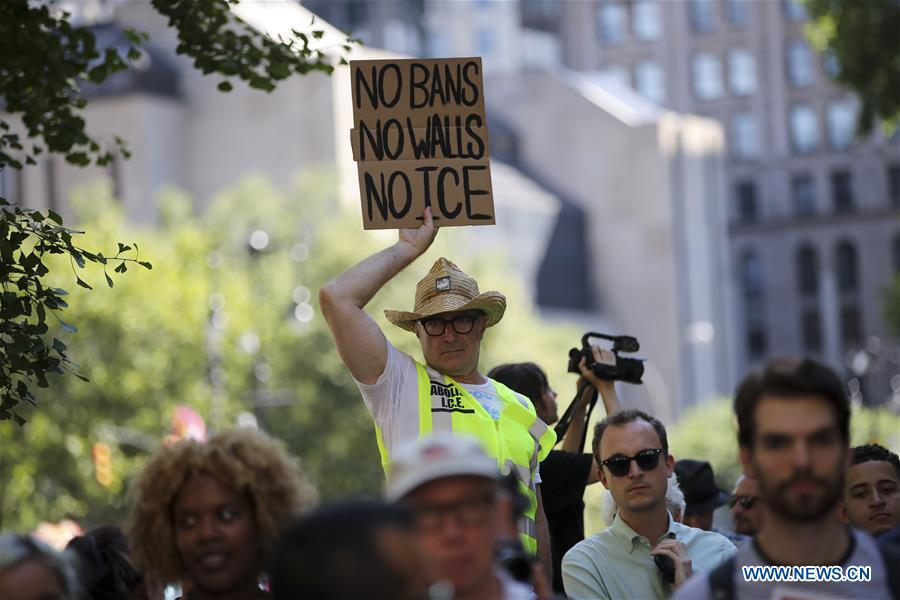 U.S.-NEW YORK-ANTI DEPORTATION PROTEST