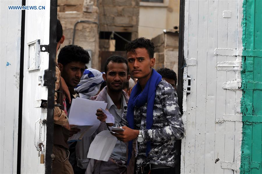 Displaced students from Hodeidah take final exams in Sanaa, Yemen