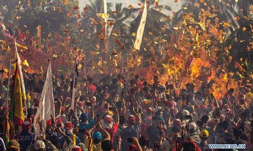 Bakar Tongkang Festival celebrated in Indonesia