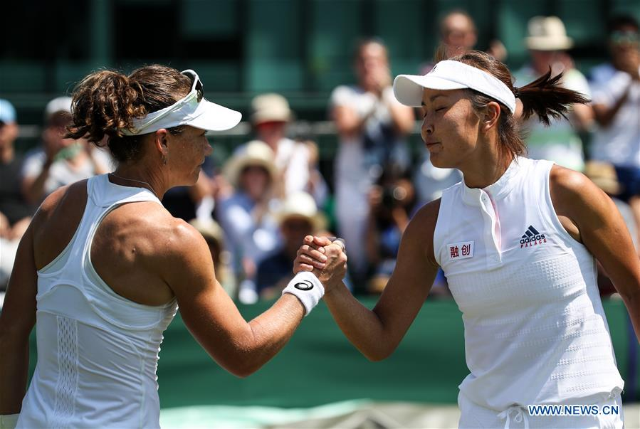 Samantha Stosur beats Peng Shuai 2-0 at Championship Wimbledon in Britain