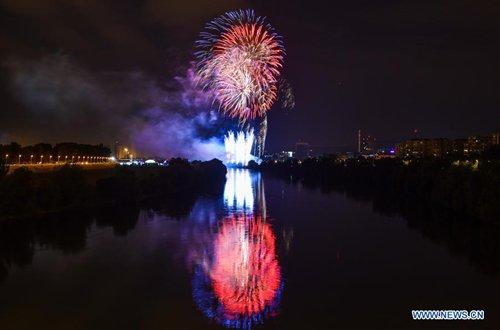 18th Intl Fireworks Festival held in Zagreb, Croatia