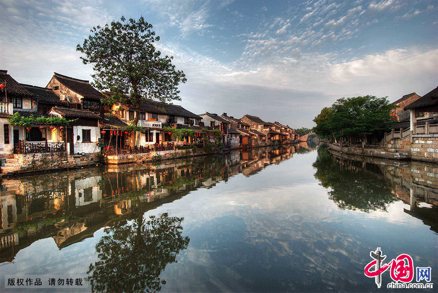 The ancient town of Xitang in China