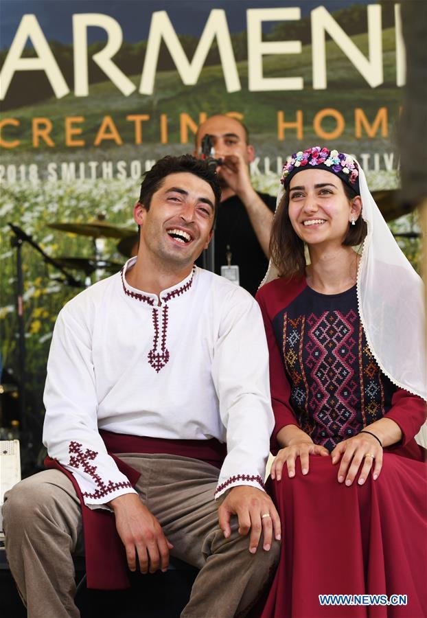 U.S.-WASHINGTON D.C.-SMITHSONIAN FOLKLIFE FESTIVAL-ARMENIAN WEDDING