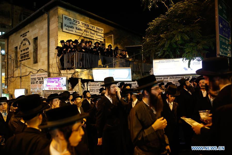 Ultra-Orthodox Jews protest against Israeli army conscription in Jerusalem