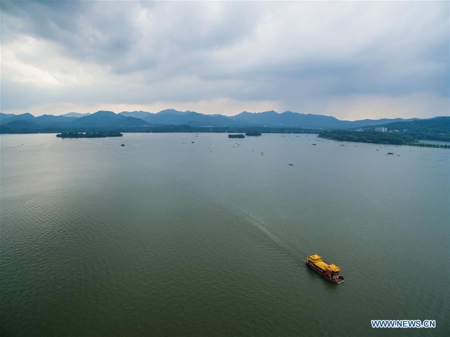 Summer scenery of West Lake in Hangzhou, east China