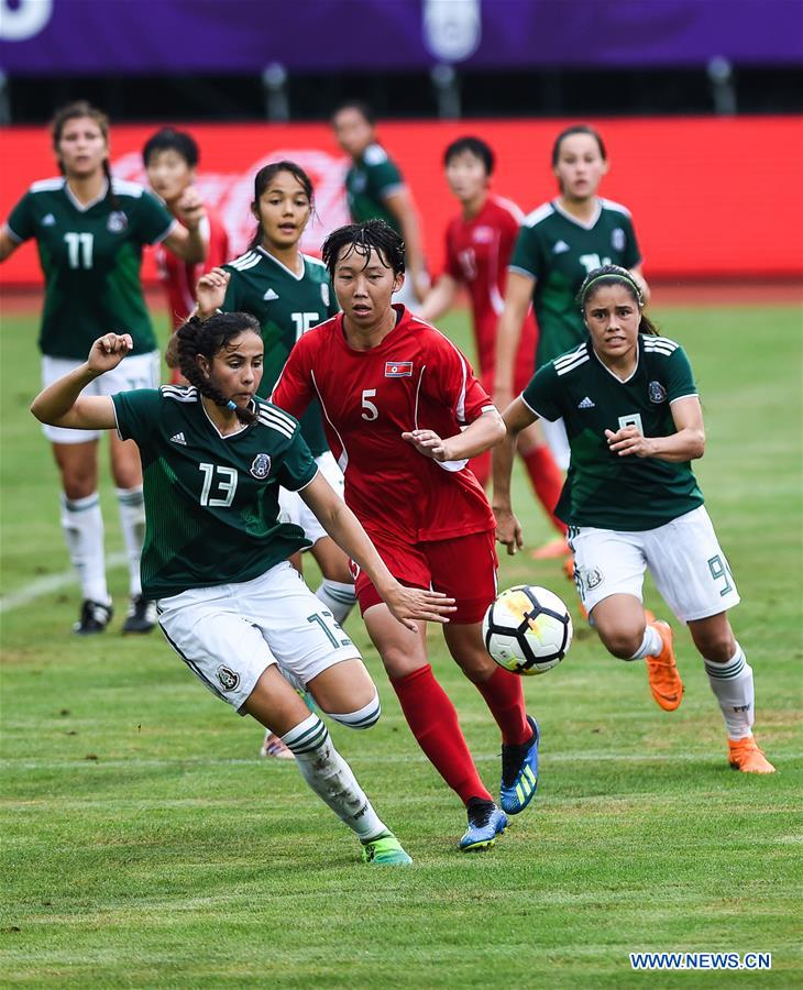 DPRK draws with Mexico 1-1 during CFA Int'l Women's Youth Football Tournament Duyun 2018