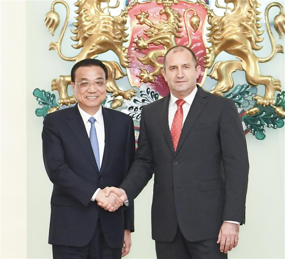 Chinese premier meets Bulgarian president on ties